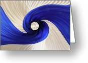 Textured Sculpture Greeting Cards - Whirlpool Greeting Card by Rick Roth