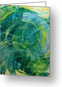Www.artworkxofmann.com Mixed Media Greeting Cards - Whirlwind Greeting Card by Annette  Gardiner