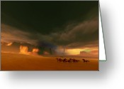 Storm Digital Art Greeting Cards - Whirlwind Greeting Card by Corey Ford