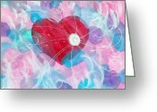 Prophetic Art Greeting Cards - Whirlwind Of Love Greeting Card by Sheila Yackley
