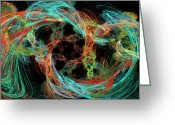 Jewel Tones Digital Art Greeting Cards - Whirly Gig Greeting Card by Andee Photography