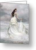 Seafoam Greeting Cards - Whispered Waves Greeting Card by Karen Koski