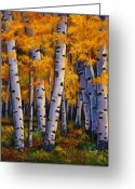 Aspen Trees Greeting Cards - Whispers Greeting Card by Johnathan Harris