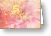 Beauty Love Greeting Cards - Whispers to my Heart Greeting Card by Sharon Mau