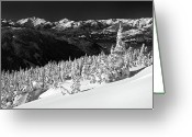 Ghosts Greeting Cards - Whistler mountain winter scenery Greeting Card by Pierre Leclerc