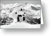 Skiing Greeting Cards - Whistler summit Inukchuk Greeting Card by Pierre Leclerc