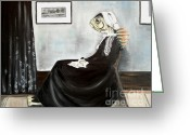 Old Lady Greeting Cards - Whistlers Mother As a Fish Greeting Card by Ellen Marcus