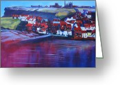 Tidal River Greeting Cards - Whitby Smokehouses Greeting Card by Neil McBride