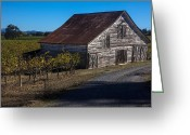 Old Barns Greeting Cards - White barn Greeting Card by Garry Gay