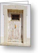 Exit Greeting Cards - White Door Greeting Card by Carlos Caetano