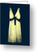 Nightgown Greeting Cards - White Dress Greeting Card by Joana Kruse