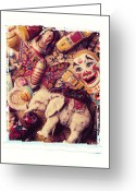Monkey Greeting Cards - White Elephant Greeting Card by Garry Gay