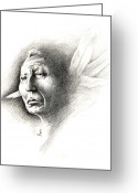 White Feather Greeting Cards - White Feather Greeting Card by Robert Martinez
