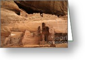 Ancient Ruins Greeting Cards - White House Ruin Canyon De Chelly Greeting Card by Bob Christopher