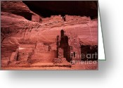 Ancestors Greeting Cards - White House Ruin New Mexico Greeting Card by Bob Christopher
