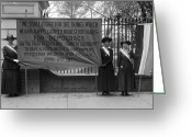 Sash Greeting Cards - White House: Suffragettes Greeting Card by Granger