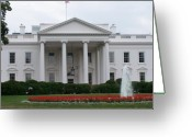 President Obama Greeting Cards - White House Greeting Card by Vijay Sharon Govender