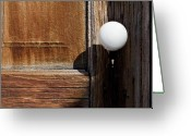 Knob Greeting Cards - White Knob Greeting Card by Kelley King