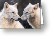 Airbrush Greeting Cards - White Magic Greeting Card by Sandi Baker