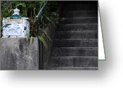 Concrete Greeting Cards - White Mailbox Greeting Card by Murray Bloom