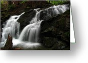 Nh Greeting Cards - White Mountains Waterfall Greeting Card by Juergen Roth