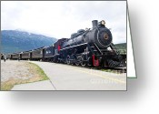 Skagway Greeting Cards - White Pass and Yukon Railroad Greeting Card by John W Walker