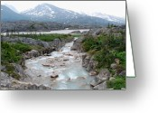 Klondike Greeting Cards - White Pass Greeting Card by Terence Davis