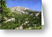 Posters Greeting Cards - White Rock Mountain Greeting Card by The Kepharts 