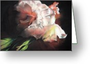 Flower. Petals Pastels Greeting Cards - White Roses Greeting Card by Beka Burns