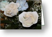 Babys Greeting Cards - White Roses for Helen I Greeting Card by Suzanne Gaff
