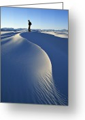 Mature Adult Greeting Cards - White Sands National Monument, Nm Usa Greeting Card by Dawn Kish