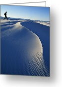 Mature Adult Greeting Cards - White Sands National Park, New Mexico Greeting Card by Dawn Kish