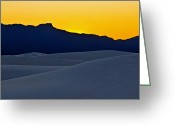 Brian Kerls Greeting Cards - White Sands Sunset Greeting Card by Brian Kerls