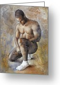 Men Greeting Cards - White Socks Greeting Card by Chris  Lopez
