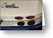 1964 Corvette Greeting Cards - White Stingray Greeting Card by Dennis Hedberg