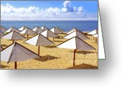 Fun Greeting Cards - White Sunshades Greeting Card by Carlos Caetano