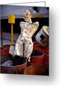 Skiphunt Greeting Cards - White Trash Greeting Card by Skip Hunt