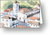 Stephanie Aarons Photo Greeting Cards - White Village Greeting Card by Stephanie Aarons