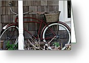 Old Bike Greeting Cards - White Wall Tires Greeting Card by Mg Rhoades