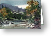 White River Greeting Cards - White Water on the White River Greeting Card by Donald Maier