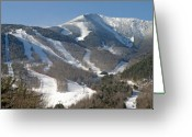 Mountain Summit Greeting Cards - Whiteface Ski Mountain in Upstate New York near Lake Placid Greeting Card by Brendan Reals