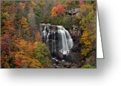 Forceful Greeting Cards - Whitewater Falls 2 Greeting Card by Joye Ardyn Durham