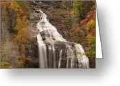 Forceful Greeting Cards - Whitewater Falls 3 Greeting Card by Joye Ardyn Durham
