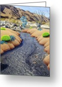 Rocks Greeting Cards - Whitewater Greeting Card by Snake Jagger