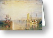 Watercolor On Paper Greeting Cards - Whiting Fishing off Margate Greeting Card by Joseph Mallord William Turner