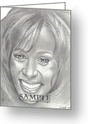 Flyers Drawings Greeting Cards - Whitney Greeting Card by Rick Hill