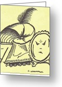 Children Stories Drawings Greeting Cards - Who is Fairest Greeting Card by Carol Shoemaker