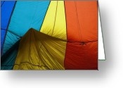 Hot Air Balloon Photo Greeting Cards - Who landed this balloon on me Greeting Card by Mike  Dawson