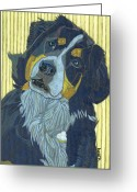 David Kent Collections Greeting Cards - Whos At The Door Molly Greeting Card by David  Hearn