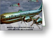 Stratotanker Digital Art Greeting Cards - WI Air Guard in Action Greeting Card by Tommy Anderson